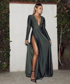 Unique Long Sleeve Prom Dress ,Deep V Neck Formal Dress ,Custom Made,Party Gown,Cheap Evening Dress on Luulla Prom Dresses Long With Sleeves, Unique Prom Dresses, Grad Dresses, Custom Dresses, Ball Dresses, Elegant Dresses, Pretty Dresses, Beautiful Dresses, Sequin Evening Dresses
