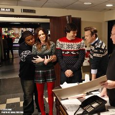Backstage during rehearsals for last season's Fallon monologue!