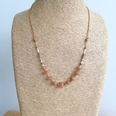 Peach Moonstone Knotted Leather Necklace – Laura James Jewelry