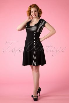 Vixen Black White Striped Dress