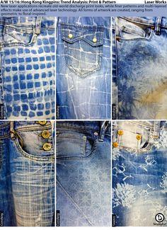 Denimhead: Denimhead Reports Denim Fashion, Fashion Pants, Denim Ideas, Printed Denim, Vintage Denim, Jeans Style, Denim Man, Indigo, Fashion Accessories