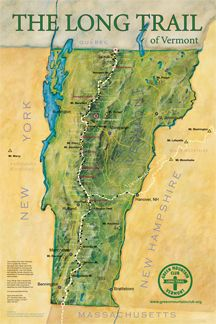 The Long Trail is a 273 mile foot path, following the ridge of the Green Mountains in Vermont. Starts at the Massachusetts- Vermont State Line and runs to the Canadian Border. The inspiration for the Appalachian Trail.