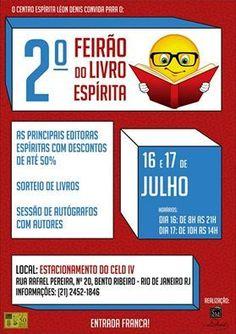 CELD Convida para o 2º Feirão do Livro Espírita - Bento Ribeiro - RJ - http://www.agendaespiritabrasil.com.br/2016/07/15/celd-convida-para-o-2o-feirao-do-livro-espirita-bento-ribeiro-rj/