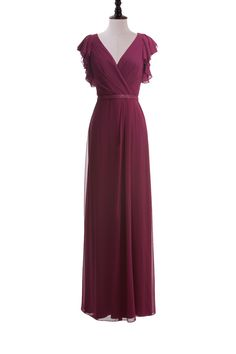 Flutter Sleeve Chiffon Dress with Sequin Belt, could be a great bridesmaid dress?