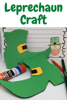Looking for St Patricks day ideas? This leprechaun craft is perfect for your students. Print the patterns and the writing template and you are ready to go. Crafts for St Patricks day are so much FUN! St Patrick's Day Crafts, Fun Crafts For Kids, Leprechaun Story, Teaching Resources, Teaching Ideas, Writing Template, St Patrick Day Activities, Shoe Crafts, First Grade Teachers