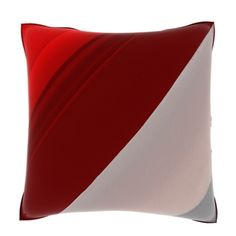 Close-up of Red Threshold  18-inch Polyester Velour Throw Pillow