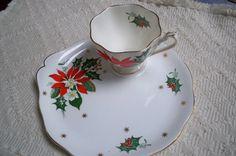 Vintage Christmas Bone China Tea and Toast by ThisandThatCapeCod, $18.50