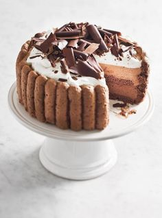 All Chocolate Charlotte/Charlotte tout chocolat Charlotte Dessert, Charlotte Cake, Pastry Recipes, Cake Recipes, Dessert Recipes, Casserole Recipes, Egg Recipes, Baking Recipes, Food Cakes