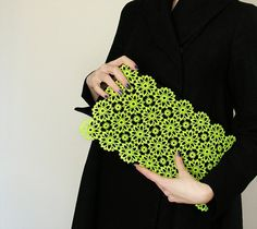 neon lace clutch by Pirifoolerly