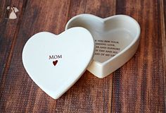 Mother of the Bride Gift - SHIPS FAST - Heart Box - Mom - Keepsake Box - With Gift Box - Venue and reception decor (*Amazon Partner-Link)
