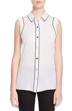 St. John Collection Silk Crepe Shell available at #Nordstrom