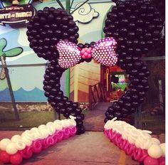 Arco de globos minnie mouse