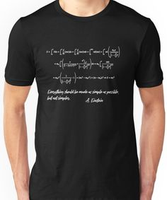 ' Einstein Theory of General Relativity Formula' T-Shirt by myrgomez Geek Shirts, Cool Shirts, Funny Shirts, Casual Shirts, Ing Civil, Einstein, Mens Fashion Sweaters, Funny Design, Tshirt Colors