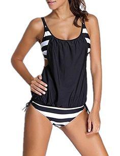 #Ninimour #Damen #Tankini #Bikini #Set #Streifen zweiteilig #Badeanzug #Swimsuit Ninimour Damen Tankini Bikini Set Streifen zweiteilig Badeanzug Swimsuit, , Size: S, M, L, XL, 2XL, 3XL sind erh?ltlich. Bitte beachten Sie die Sizeinformaitonen, und erlauben uns 1-3cm Error, Artikel Typ: Bikini, Packungsinhalt: 1 Bikini Set, Geeignet f¨¹r Strand, Schwimmen Sport, usw., Pflegehinweis: Nicht Trockner geeignet, Maschinenw?sche bei 30¡ãC