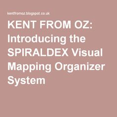 KENT FROM OZ: Introducing the SPIRALDEX Visual Mapping Organizer System