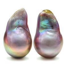 Quality natural freshwater baroque pearls with yellow, pink, green and purple overtone. Only freshwater pearls can exhibit such an amazing display of color.