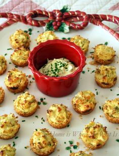 Parmesan Crusted Crab Cake Bites | recipe from Christmas with Southern Living's 2012 edition