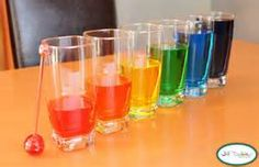 Musical instruments craft ideas six glasses, food coloring, water, and Popsicle or drum stick musical water.