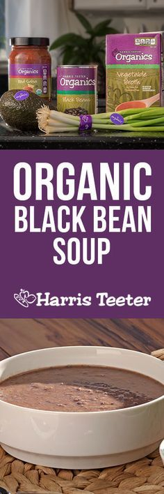 Super easy, healthy and delicious!  You'll want to add thie Organic Black Bean Soup to your weekly menu plan.