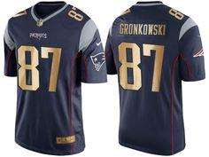 Men s Nike New England Patriots  87 Rob Gronkowski Navy Blue Rush NFL  Gronkowski Jersey b6426d9ff476a