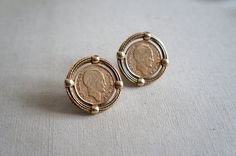 Vintage Coin Earrings | French 10 Franc Statement Clip-ons on Etsy, $28.00