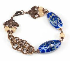 Jewelry Making Idea: Queen Bee Bracelet (eebeads.com)