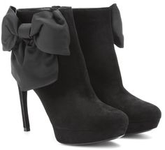 Womens Boots GUESS Ivorie Black Leather