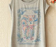 Elephant Tee | Hipster clothes I want! | Pinterest