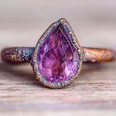 Amethyst and Copper Ring || Available in our 'Bohemian' and 'Earthly Treasures' Collections || www.indieandharper.com