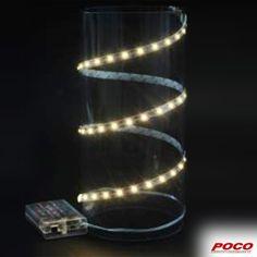 Ein Lichtlein brennt, zwei Lichtlein brennen, drei Lichtlein brennen… Mit 60 LEDs, selbstklebend, batteriebetrieben und individuell zuschneidbar #weihnachten