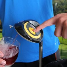 Sliced the ball again?! Deluxe Electronic Golf Club Kooler Caddie, from HomeWetBar.com