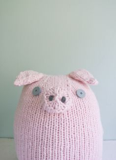 Whit's Knits: Big PinkPig - Knitting Crochet Sewing Crafts Patterns and Ideas! - the purl bee