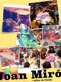 Fondos de pinturas para el proyecto Pequeños grandes Artistas.... Pintamos con pincelonjas.