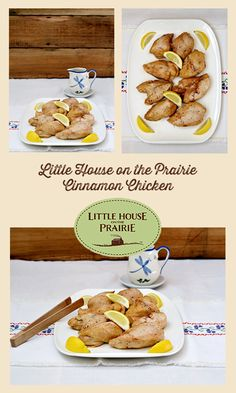 Laura's trick on Nellie and Almanzo wasn't very nice - but the original cinnamon chicken recipe is! Old Recipes, Vintage Recipes, Real Food Recipes, Chicken Recipes, Dinner Recipes, Cinnamon Chicken, Pollo Loco, Cinnamon Recipes, Old Fashioned Recipes