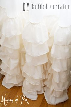I recently decided that I needed some ruffled curtains… I must say that ruffles are VERY out of character for me (I have two boys, remember?), but I love them.  I am NOT a very accomplished seamstress, so they were pretty slow and labor-intensive for me, but they weren't hard.  Good new is, if you …