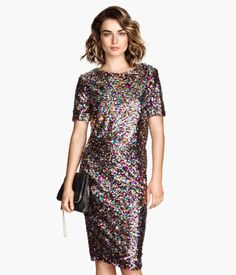 H&M Short Sequined Top $34.95. Multi-colored one - another NYE possibility. (not the skirt)
