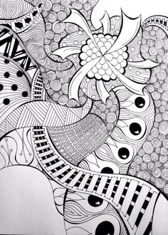 """Morphea Windmill"" - doodle sharpie art tangle by Heidi Denney"
