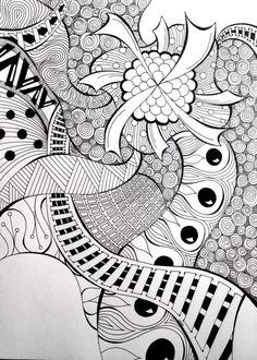 """Morphea Windmill"" - doodle sharpie art tangle by Heidi Denney"