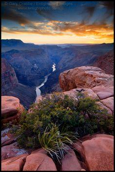 Cliffs above the Colorado River at Sunset ~ Toroweap Point, Grand Canyon National Park, Arizona