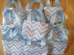 Doll Party Favors 10 blue chevron purses for 18 by babychickie