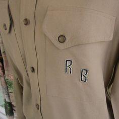 Vintage Mens Shirt  Gabardine 1940s by nanascottagehouse on Etsy, $52.00