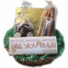 Fathers Chocolate Gift Basket Rule