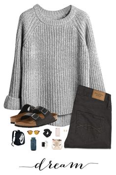 """""""2 weeks until spring break"""" by trujilloxochitl ❤ liked on Polyvore featuring Abercrombie & Fitch, Birkenstock, Kate Spade, Kendra Scott, Forever 21, NIKE, Apple, Ray-Ban and Nalgene"""