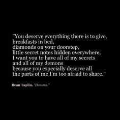 All the parts of me I'm too afraid to share.