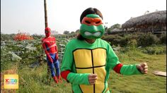 Spiderman Ninja turtles vs Death Transformation Superheroes in real life