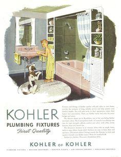 41 Best Vintage Plumbing Images In 2012 Retro Bathrooms