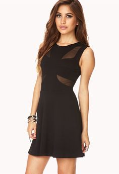 Posh Cutout Fit & Flare Dress | FOREVER21 - 2000129179