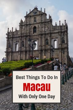 If you are anything like us, the first image that pop into your head when you think of Macau is of the casinos. But there is so much more to see. Check out our guide for a day visit. #Macau #traveltips #China