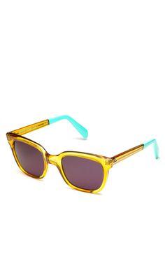 Shop Sheriff New Retro Honey Sunglasses at Moda Operandi