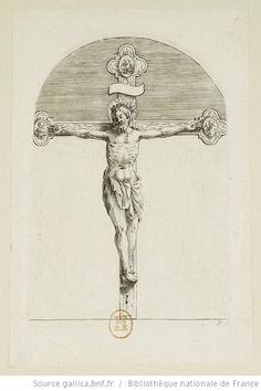 [Les tableaux de Rome]. [9], [Le crucifix] : [estampe] / [Jacques Callot] - 1